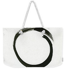 Enso #1 - Zen Circle Minimalistic Black And White Weekender Tote Bag