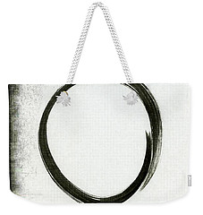 Enso #2 - Zen Circle Abstract Black And Red Weekender Tote Bag