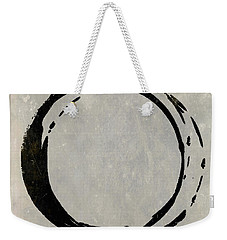Enso No. 107 Black On Taupe Weekender Tote Bag