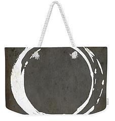 Enso No. 107 Gray Brown Weekender Tote Bag