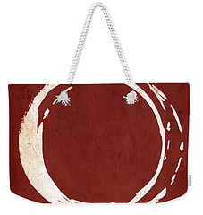 Enso No. 107 Red Weekender Tote Bag