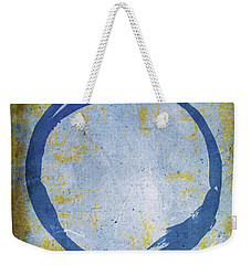 Enso No. 109 Blue On Blue Weekender Tote Bag