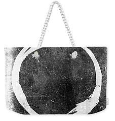 Enso No. 109 White On Black Weekender Tote Bag by Julie Niemela
