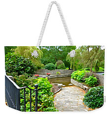 Enter The Garden Weekender Tote Bag by Charlie and Norma Brock