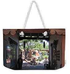 Weekender Tote Bag featuring the photograph Entrance To Market Place by Dora Sofia Caputo Photographic Art and Design