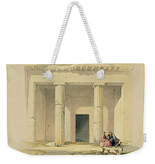 Entrance To The Caves Of Bani Hasan Weekender Tote Bag by David Roberts