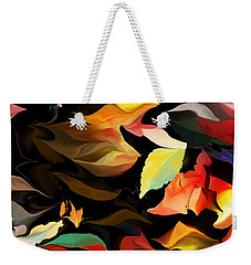 Weekender Tote Bag featuring the digital art Entropic Dance Of The Salamander First Snow.  by David Lane