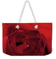 Enveloped In Red Weekender Tote Bag by Phyllis Denton