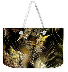 Weekender Tote Bag featuring the digital art Environmental Transitions 5 by Casey Kotas