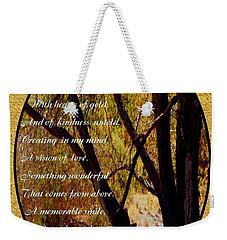 Envisioning Inspirational Weekender Tote Bag by Bobbee Rickard