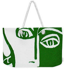 Weekender Tote Bag featuring the painting Envy by Donna Tucker