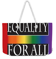 Equality Rainbow Weekender Tote Bag