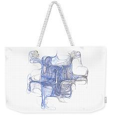 Weekender Tote Bag featuring the digital art Equilibrium by Menega Sabidussi
