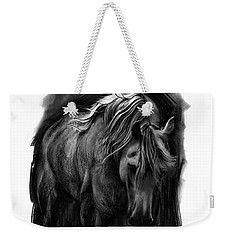 Weekender Tote Bag featuring the drawing Equine 1 by Paul Davenport