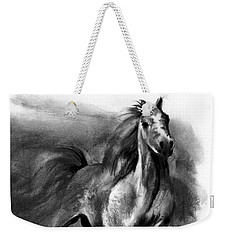 Weekender Tote Bag featuring the drawing Equine II by Paul Davenport