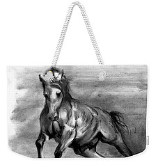 Weekender Tote Bag featuring the drawing Equine IIi by Paul Davenport