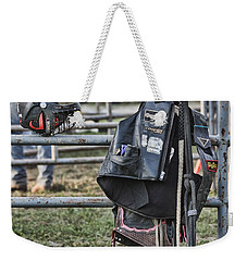 Weekender Tote Bag featuring the photograph Equipment by Denise Romano