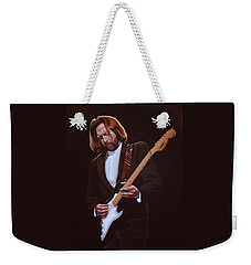 Eric Clapton Painting Weekender Tote Bag by Paul Meijering