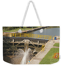 Weekender Tote Bag featuring the photograph Erie Canal Lock by William Norton