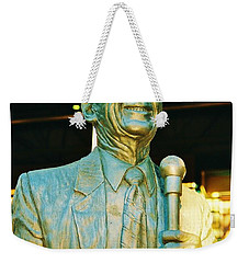 Ernie Harwell Statue At The Copa Weekender Tote Bag by Daniel Thompson