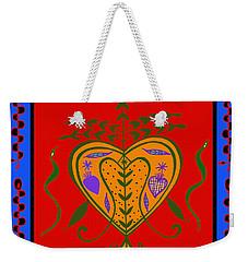 Weekender Tote Bag featuring the digital art Erzulie Freda by Vagabond Folk Art - Virginia Vivier