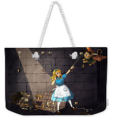 Weekender Tote Bag featuring the painting Escape by Reynold Jay
