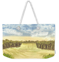 Weekender Tote Bag featuring the painting Escape To The Country by Tracey Williams