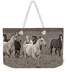 Weekender Tote Bag featuring the photograph Escapees From A Lineup D8056 by Wes and Dotty Weber