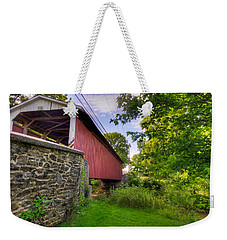 Weekender Tote Bag featuring the photograph Eshelman's Mill Covered Bridge by Jim Thompson