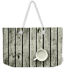 Espresso On A Wooden Table Weekender Tote Bag