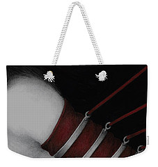 Weekender Tote Bag featuring the painting Eternal Struggle by Pat Erickson