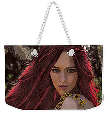 Weekender Tote Bag featuring the digital art Ethere by Galen Valle