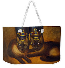 Cats Of Egypt Weekender Tote Bag by Randy Burns
