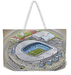 Etihad Stadium - Manchester City Weekender Tote Bag by D J Rogers