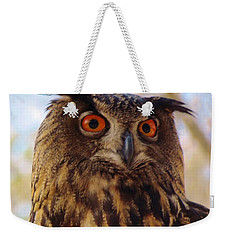 Weekender Tote Bag featuring the photograph Eurasian Eagle Owl by Cynthia Guinn