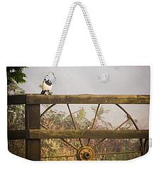 Eurasian Magpie In Morning Mist Weekender Tote Bag