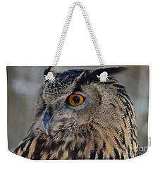 Eurasian Owl Weekender Tote Bag by Debby Pueschel