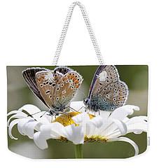 European Common Blue Butterflies Weekender Tote Bag
