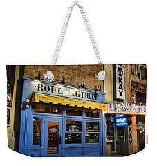 Weekender Tote Bag featuring the photograph Eva's Bakery  by Ely Arsha