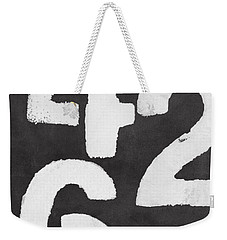 Even Numbers Weekender Tote Bag by Linda Woods