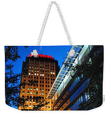 Evening At Ppl Plaza - Allentown Pa  Vertical Weekender Tote Bag