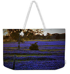 Weekender Tote Bag featuring the photograph Evening Blues by John Glass