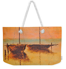 Evening Boats Weekender Tote Bag