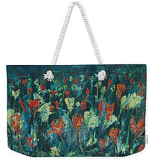 Weekender Tote Bag featuring the painting Evening Buds by Mini Arora