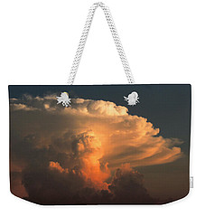 Weekender Tote Bag featuring the photograph Evening Buildup by Charlotte Schafer