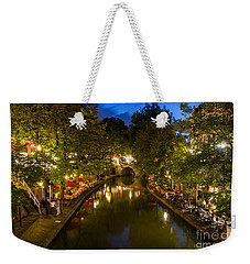 Evening Canal Dinner Weekender Tote Bag
