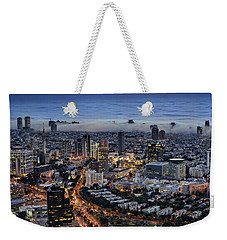 Evening City Lights Weekender Tote Bag by Ron Shoshani