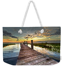 Evening Dock Weekender Tote Bag by Debra and Dave Vanderlaan