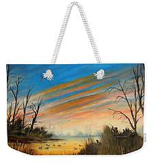Evening Duck Hunt Weekender Tote Bag