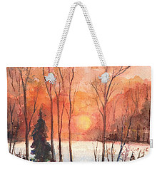 The Evening Glow Weekender Tote Bag